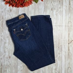 Levi's 505  Straight Leg Jeans with Unique Pockets